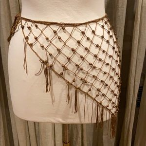 Brown netted belt
